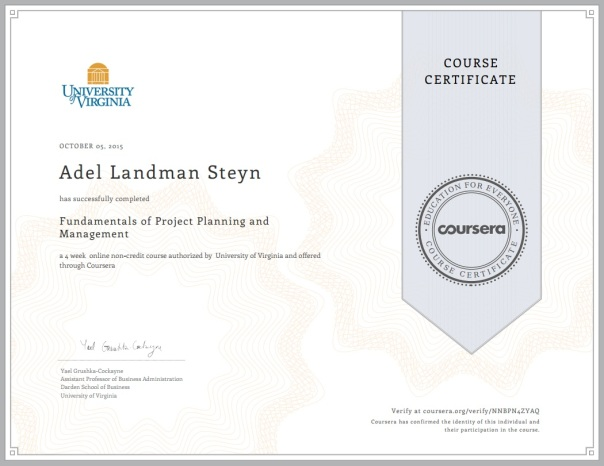 Project Management | Adel Landman Steyn