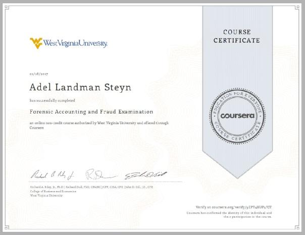 Course Certificate   Adel Landman Steyn